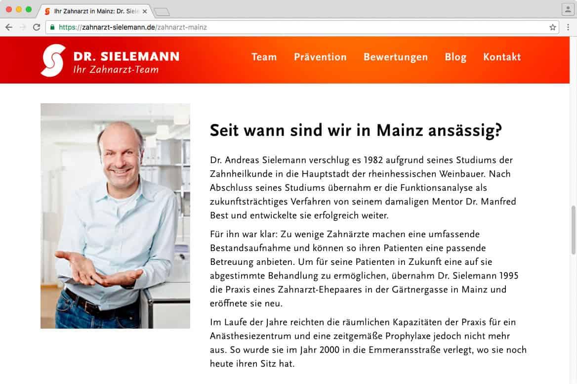 Unterseite: Zahnarzt in Mainz